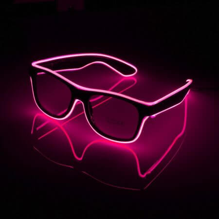 Flashing Glasses EL Wire LED Glasses Glowing Party Supplies Lighting Novelty Gift Bright Light Festival Party Glow Sunglasses 4