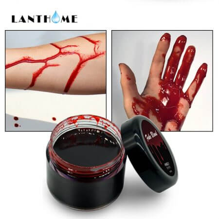Blood Halloween Fake Wounds Scars Bruises Fake Blood Makeup Body Face Paint Simulation Of Human Vampire Cosplay Ultra-realistic 1