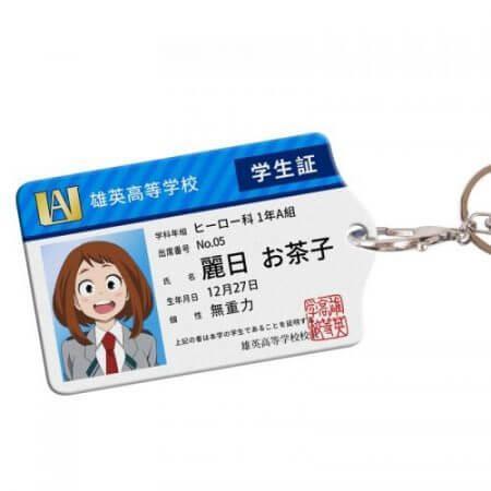 Anime My Hero Academia Boku no Hero Asui Tsuyu OCHACO URARAKA Acrylic Cards Holder Keychain Bag's Pendant Cosplay Xmas Gifts 4