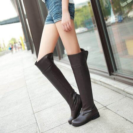 2017 women Attack on Titan cosplay long boots Shingeki no Kyojin Over-the-Knee boots Eren Jaeger Ackerman Shoes 2
