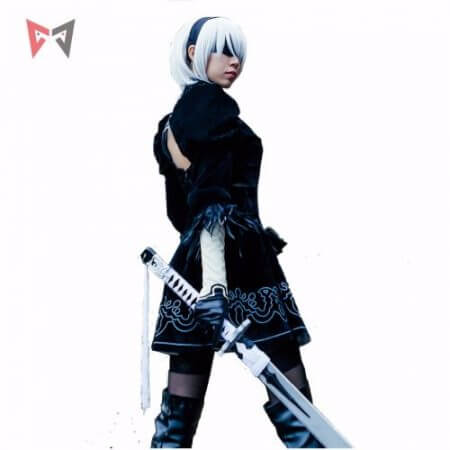 Athemis NieR Automata Cosplay Costumes YoRHa No. 2 Type B cosplay costume 2B set custom made size 1