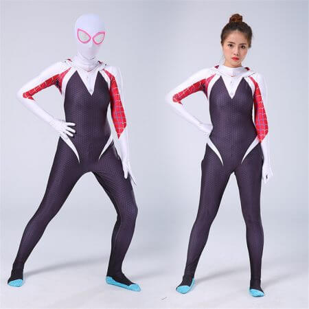 NEW 3D kids Women Gwen Stacy Spider-man Cosplay Costume Gwendolyn Maxine Stacy Spiderman Zentai hero Bodysuit Suit Jumpsuits