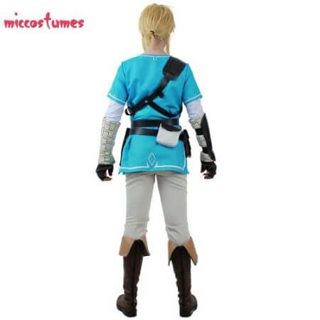 Link Cosplay Costume Male Outfit Cloak The Legend of Zelda: Breath of the Wild 3