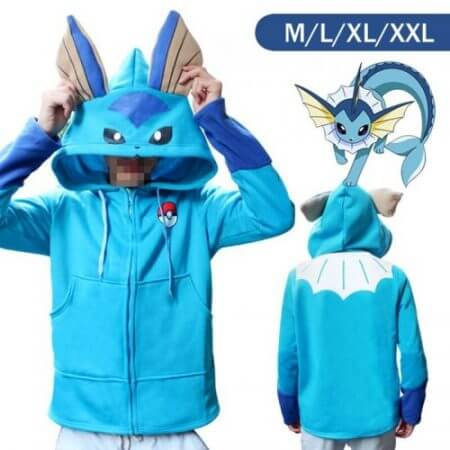 Halloween Costume Anime Pokemon Eevee Hoodies Sweatshirts Cosplay Jackets Spring/Autumn/Winter Coat for Men & Women Outdoor Wear 5