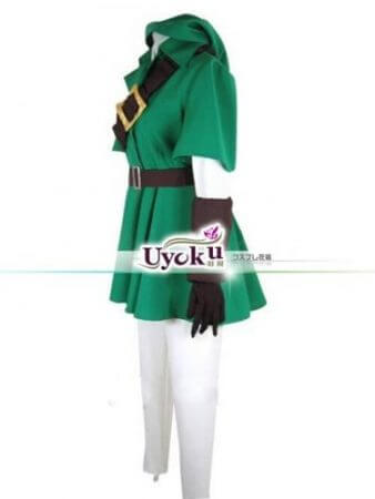 Hot The Legend of Zelda Link Cosplay Costume Full Set Comic Link Cosplay green Outfits Full set 1