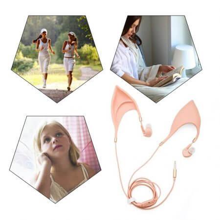 3.5mm Cosplay Elf Ear Shape In-Ear Earphone Spirit Fairy Girl Gift 5