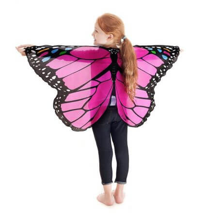 Fairy tale princess cosplay costume Butterfly Wings Shawl Cape Stole Kids Boys Girls  Scarf Wrap accessories 3