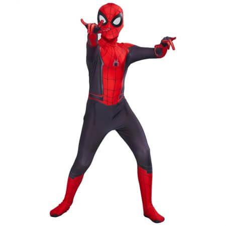 Kids Spider Man Far From Home Peter Parker Cosplay Costume Zentai Spiderman Superhero Bodysuit Suit Jumpsuits Halloween Costume 1