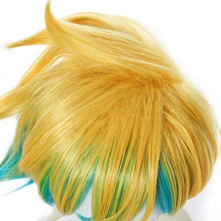 L-email wig New Arrival Game LOL Ezreal Character Cosplay Wigs 30cm Short Heat Resistant Synthetic Hair Perucas Cosplay Wig 4