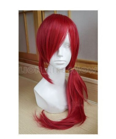 Xayah Wig Ears New 136th Champion LOL Cosplay Red Ponytail 1