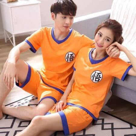 Dragon Ball Z Goku Homewear Family Matching Lover Couple Anime Cosplay Casual T Shirt Shorts Suit Set 2019 Adult Home Wear