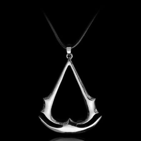 Assassins Creed Ezio Titanium Necklace Multicolor Stainless Steel Pendant Necklace 2