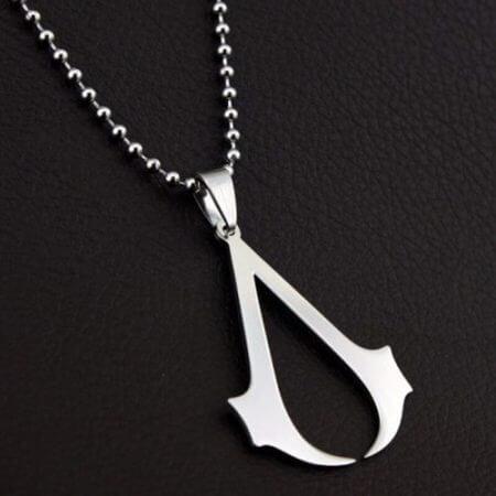 Assassins Creed Ezio Titanium Necklace Multicolor Stainless Steel Pendant Necklace 1