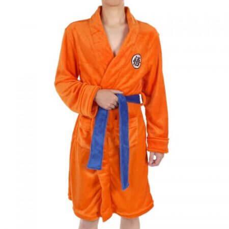 2018 Adult Bathrobe Dragon Ball Cosplay Son Goku Costume Bath Robe Sleepwear Pattern Plush Robe Women Men Pajamas Cartoon 3
