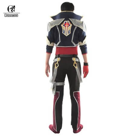 ROLECOS Battle Academia Ezreal Cosplay Costume LOL Ezreal Cosplay EZ Game Costume The Prodigal Explorer Men Halloween Costume 2