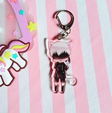 4 Pcs/lot Anime NieR Automata 2B acrylic Keychain keyring figure pendant toys gifts 4