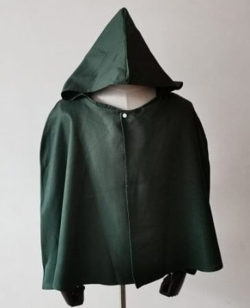 SALE Attack on Titan Cloak Shingeki no Kyojin Scouting Legion Cosplay Costume anime cosplay green Cape mens clothes 1