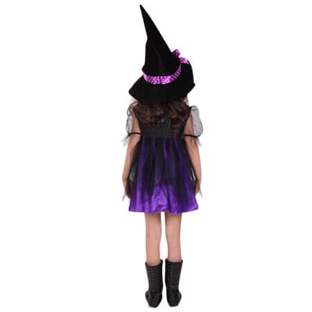 2019 New Arrival Halloween Party Children Kids Cosplay Witch Costume For Girls Halloween Costume Party Witch Dress With Hat #30 1