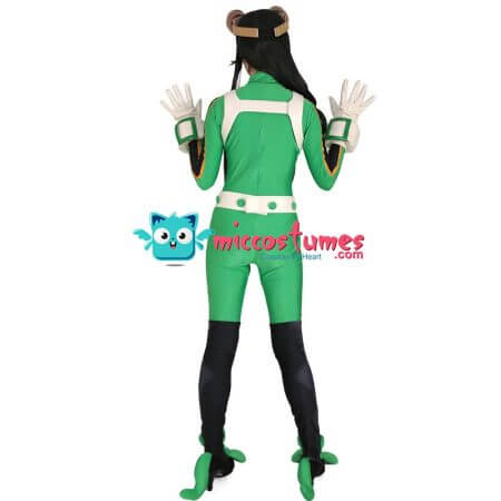 My Hero Academia Froppy Tsuyu Asui Cosplay Jumpsuit Costume Fighting Suit 3