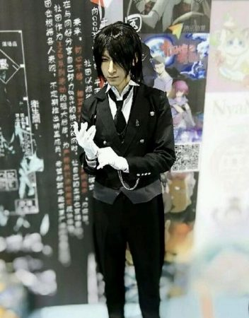 Black Butler 2 Kuroshitsuji Sebastian Michaelis Cosplay Costume Unisex Uniform 2