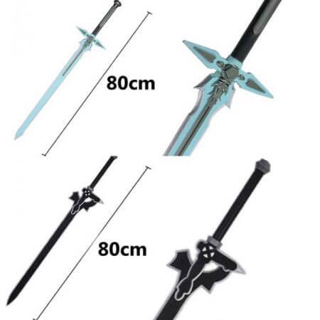 1:1 Sword Art Online Dark Repulser Kirito Kirigaya Sword Kirigaya Kazuto cosplay prop Yuuki Asuna black sword cosplay prop 1