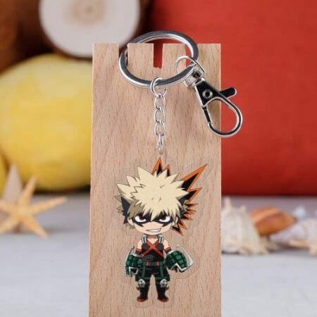 Anime My Hero Academia Cosplay Prop Accessories All Might Midoriya Izuku Todoroki Shoto Bakugou Katsuki Keychain Key Ring 2