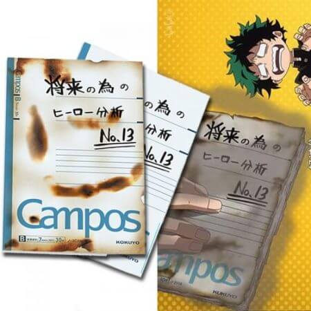 My Hero Academia Midoriya Izuku Burned Notebook Anime Cosplay Accessory Book Props School Student Note Book Gift