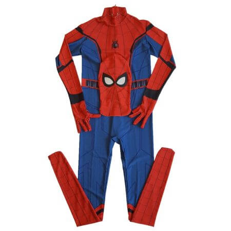 Movie Spider-Man Homecoming Costume Adult Spiderman Cosplay Costume Halloween Cool Superhero Spandex Zentai Suit Aubalee 1