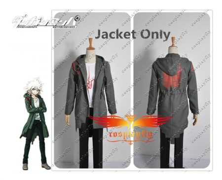 In Stock Super Danganronpa 2 Nagito Komaeda Nagito Army Green Color Jacket Hoodies ONLY Cosplay Costume Custom with Real Pockets 4