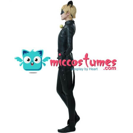 Cat Black Cosplay Costume Skin-tight Catsuit Bodysuit with Eye Mask Cat Ears 1