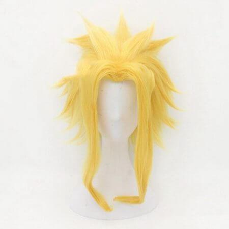 Anime My Hero Academia Boku No Hero Bakugou Katsuki Bakugo Short Linen Blonde Heat Resistant Cosplay Costume Wig 5