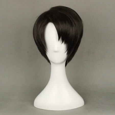 Attack on Titan Levi Ackerman Anime Cosplay Wigs for Man Short Straight Cartoon Party High Quality Synthetic Hair B+wig cap