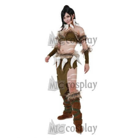Classic Nidalee Cosplay Costume Women Female Top