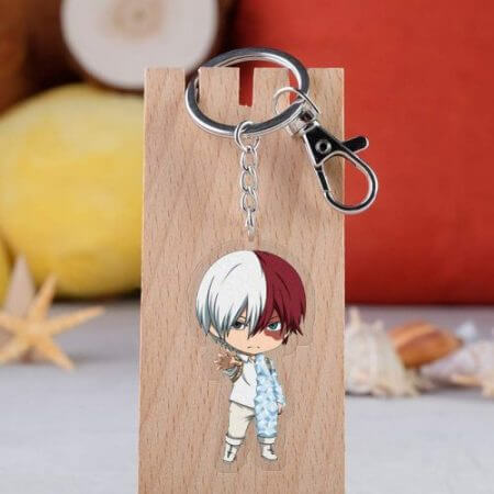 Anime My Hero Academia Cosplay Prop Accessories All Might Midoriya Izuku Todoroki Shoto Bakugou Katsuki Keychain Key Ring 3
