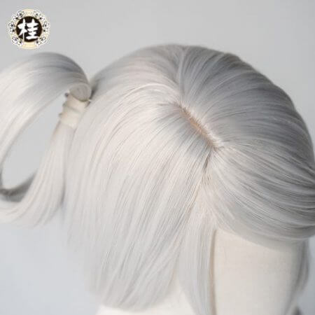 Game League of Legends LUNAR EMPRESS LUX Cosplay Wig Synthetic white Straight Hair 3