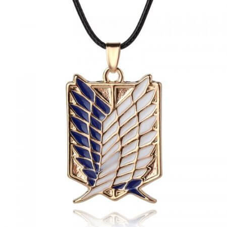 Japanese Anime Attack on Titan Necklace Wings of Liberty Shingeki No Kyojin Leather Chain Gold Silver Pendant Accessories Women 4
