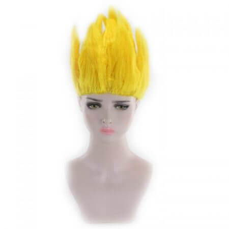 Cheap Son Goku Kakarotto Dragon Ball Cosplay Wig Black White Yellow Blue Pink Short Party Costume Wigs For Women And Men 4