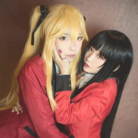 100cm Kakegurui Yumeko Jabami Cosplay Wigs Black Straight Heat Resistant Synthetic Hair Perucas Cosplay Wig 1