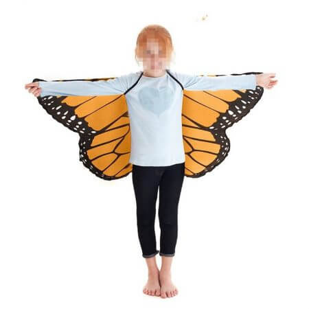 Fairy tale princess cosplay costume Butterfly Wings Shawl Cape Stole Kids Boys Girls Scarf Wrap accessories 1