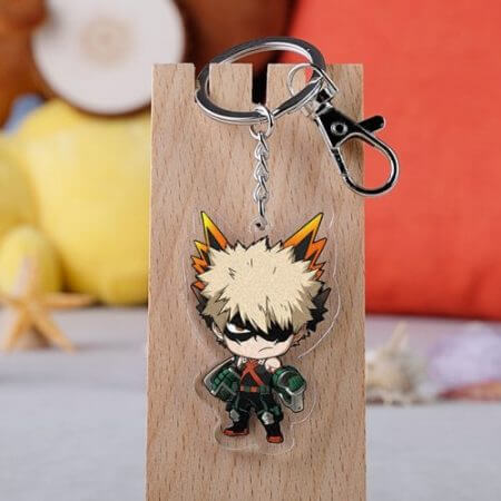 Anime My Hero Academia Cosplay Prop Accessories All Might Midoriya Izuku Todoroki Shoto Bakugou Katsuki Keychain Key Ring 5