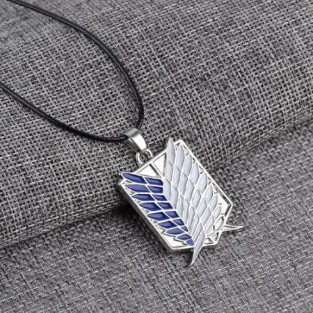Japanese Anime Attack on Titan Necklace Wings of Liberty Shingeki No Kyojin Leather Chain Gold Silver Pendant Accessories Women 2