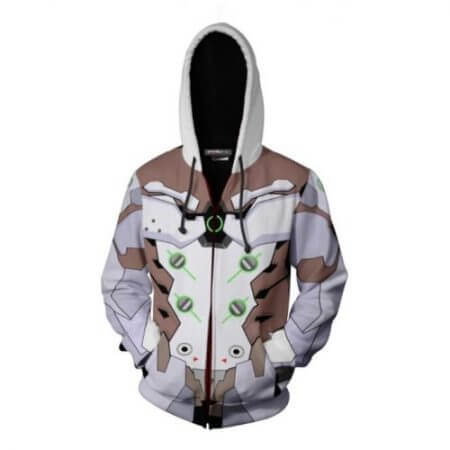 New OW Hooded Sweatshirts Genji DV.a Mercy Full Zip Thin Hoodies Cool Pullover Coat Jacket Cosplay Halloween Costume 3