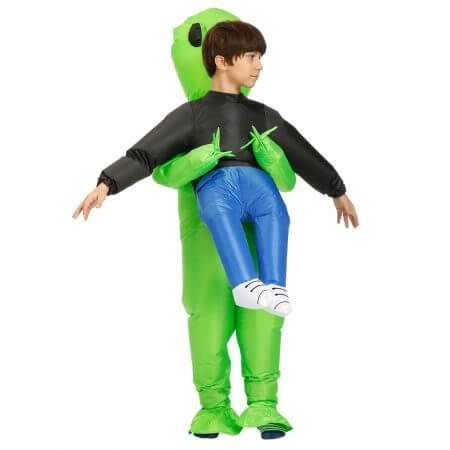 New Purim Scary Green Inflatable Alien costume Cosplay Mascot Inflatable Monster suit Party Halloween Costume for Kids Adult 3