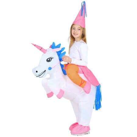 New Adult Kids Inflatable Unicorn Costume Pony Halloween Costumes for Women Men Cosplay Fantasia Party Inflatable Suit Jumpsuit 4