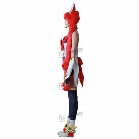 cos Jinx Cosplay Costume Women Red Shorts Headwear 1