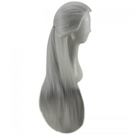 HAIRJOY Silver White Cosplay Geralt of Rivia from Witcher Games Long Straight Costume Wigs Synthetic Hair Wig Free Shipping 2