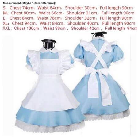 Halloween Women Adult Anime Alice In Wonderland Blue Party Dress Alice Dream Women Sissy Maid Lolita Cosplay Costume 5