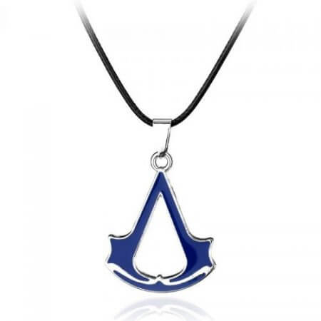 Assassins Creed Ezio Titanium Necklace Multicolor Stainless Steel Pendant Necklace 4