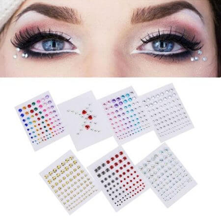 body paint Glitter Festival Party Face Makeup Gems Rhinestone Jewel Body Tattoo Stickers Eye Gems Stickers Makeup