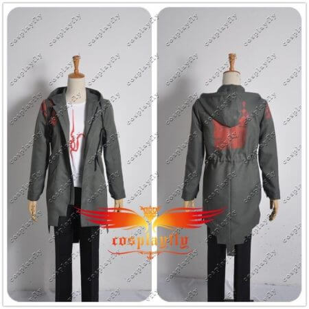 In Stock Super Danganronpa 2 Nagito Komaeda Nagito Army Green Color Jacket Hoodies ONLY Cosplay Costume Custom with Real Pockets 5